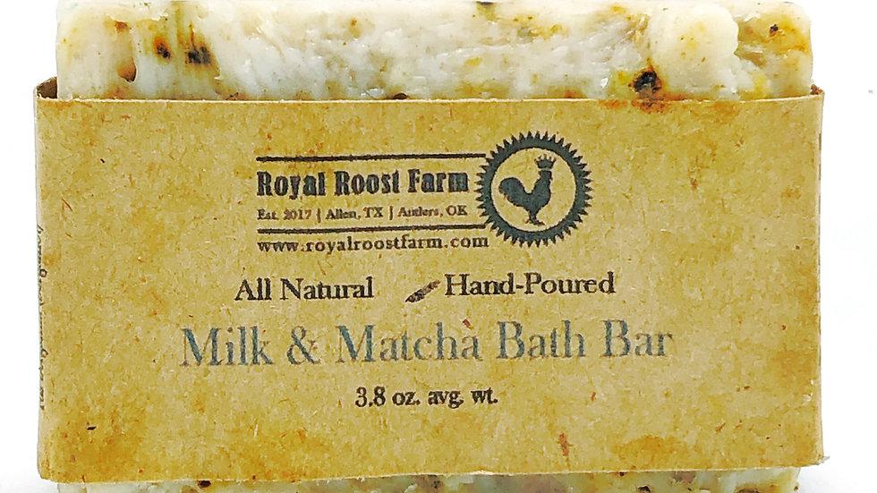 Milk & Matcha Bath Bar