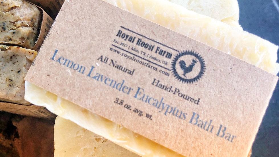 Lemon Lavender & Eucalyptus Bath Bar