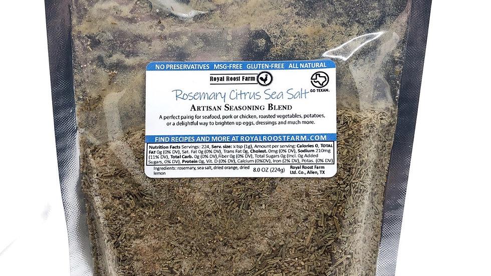 Rosemary Citrus Sea Salt, 8oz pack