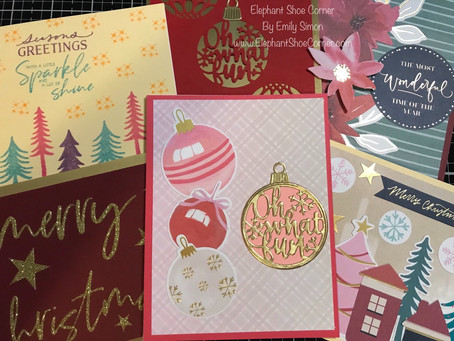 5 Cards 1 Kit | Spellbinders November 2019 Card Kit of the Month | Christmas Wishes