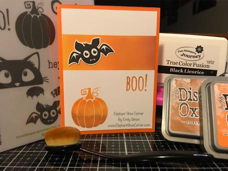 Hey Boo! | Ink Blending | Fun Stampers Journey | Spellbinders