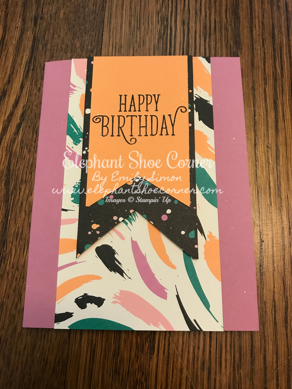 This cards was made using Sweet Sugarplum, Peekaboo Peach and two different designs from the Playful Palette DSP.