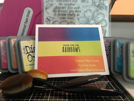 Rainbow Colors Ink Blending | Simon Says Stamp Sept 2019 Card Kit