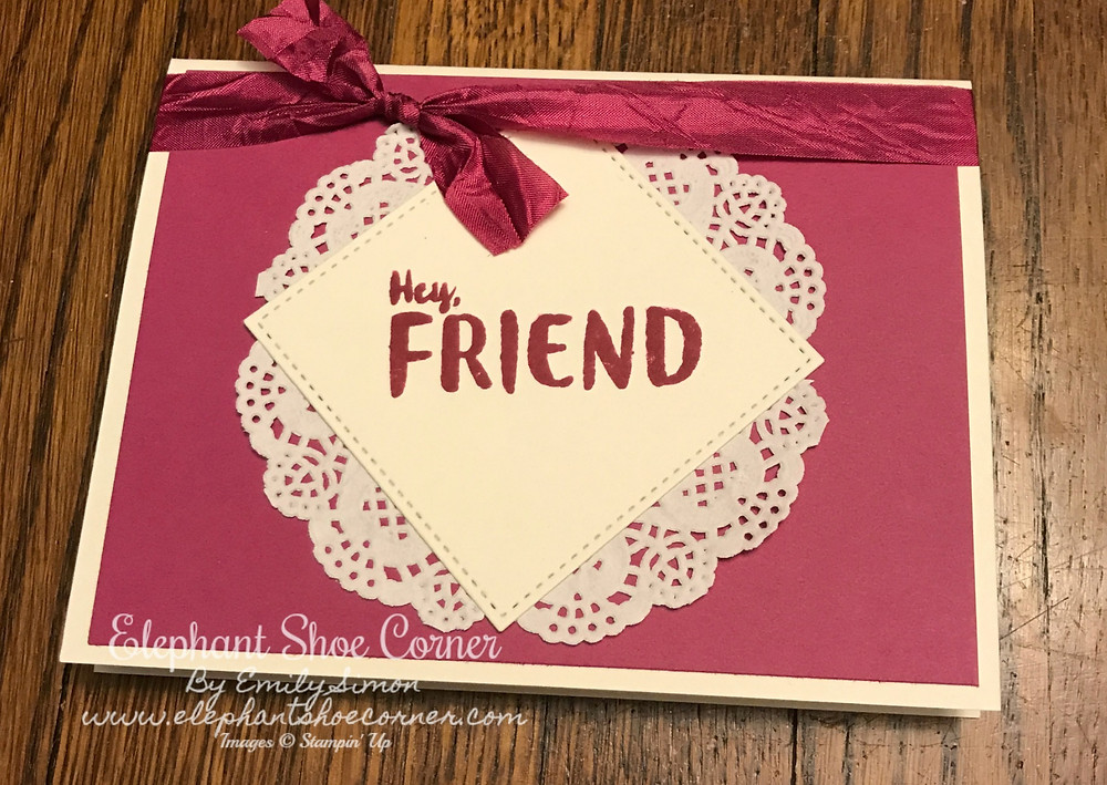 Stampin' Up Berry Burst using Orange Blossom Stamp Set