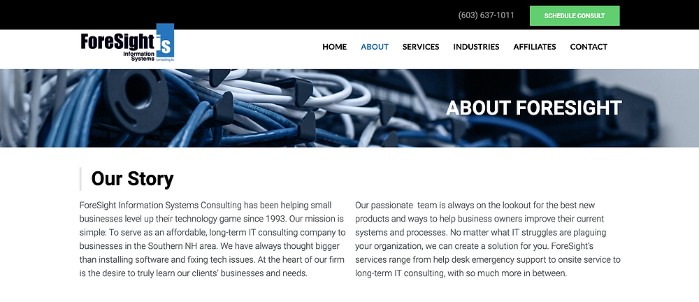 ForeSight IS About Us Page