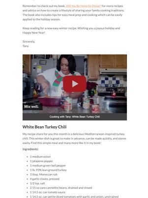 Tany's Kitchen - Dec 2020 Newsletter