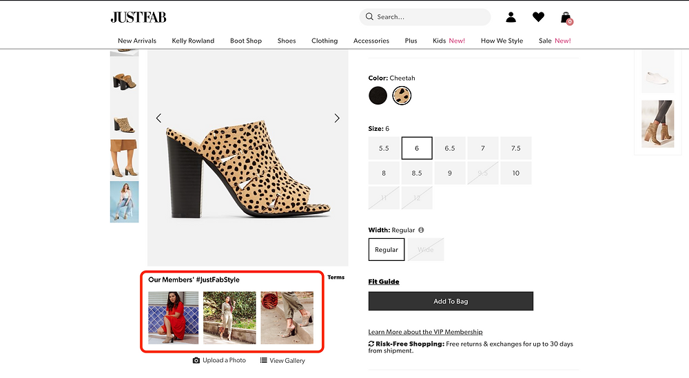 JustFab Instagram Feed - User Generated Content