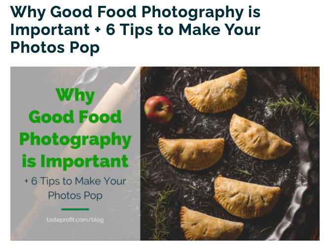 Taste Profit - Ask an Expert Blog Post