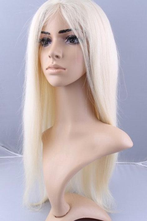 Blonde Sleek Straight (Half Lace Frontal)