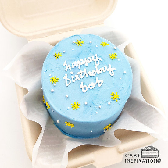Blue With Sparkles Round Bento Cake (R22)