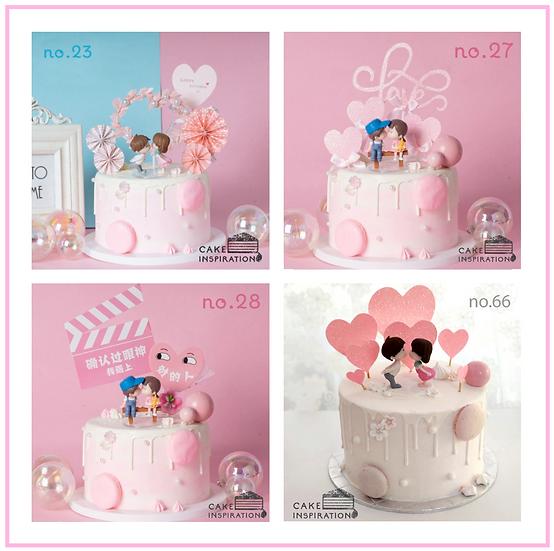 Couple Topper Cake ( no.23, 27, 28 & 66 ) - 6inch