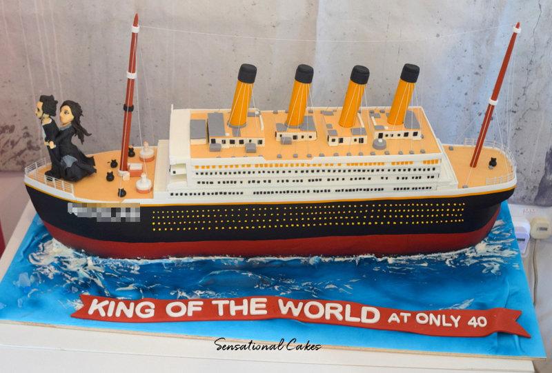 Cruise Ship Man Theme 3D Figurine Customized Cake