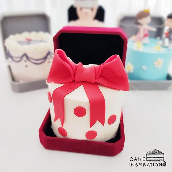 Lovely Red Bow Jewel Box Bento Cake (JB03)