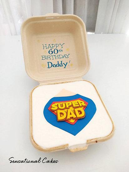 Super Dad Bento 2D Customized Mini Cake