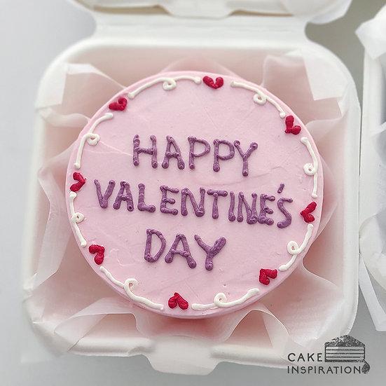 Simple Pink Round Bento Cake (R32)