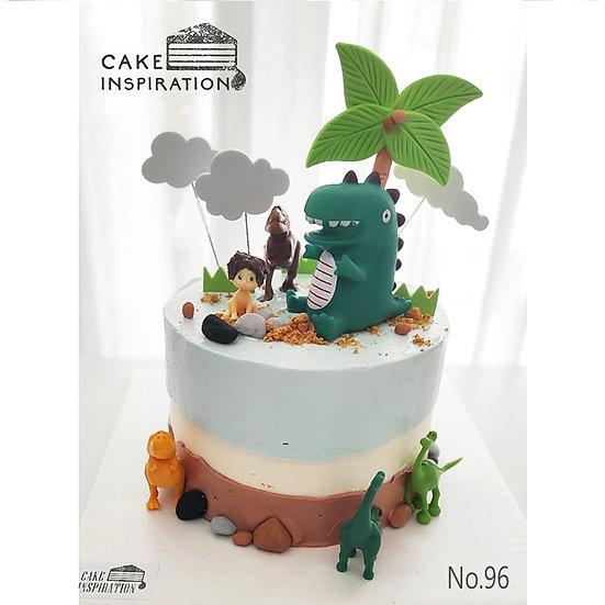 Jungle Boy and Dino Topper Cake ( no.96 ) - 6inch