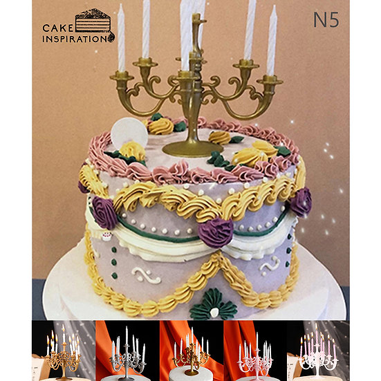 (N5) Colorful Victorian Style Cake - 6inch