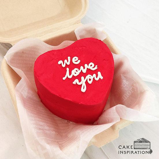 Lovely Red Heart Bento Cake (H01)