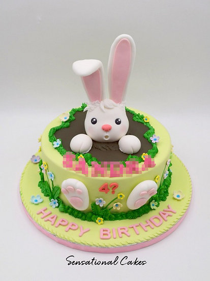 Bunny Dip Children 3D Figurine Customized Cake