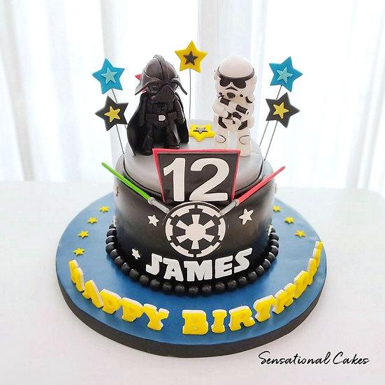 Star Troopers Design Children 3D Figurine Customized Cake