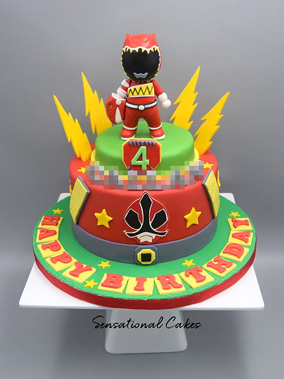 Power Hero Children Theme 3D Figurine Customized Cake