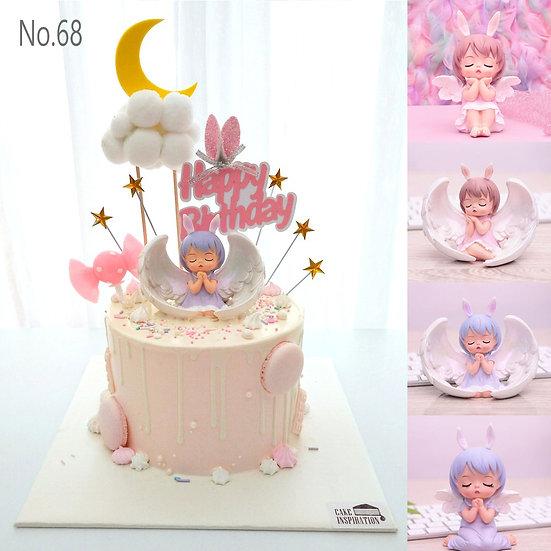 Delightful Little Angel Wings Topper Cake ( no.68 ) - 6inch