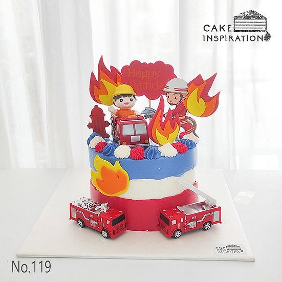 Fireman Topper Cake ( no.119) - 6inch