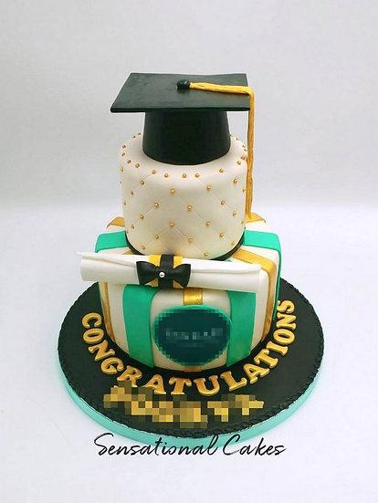 Graduate Children Theme 3D Figurine Customized Cake