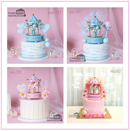 Carousel Topper Cake ( no.01, 21, 22 & 62 ) - 6inch