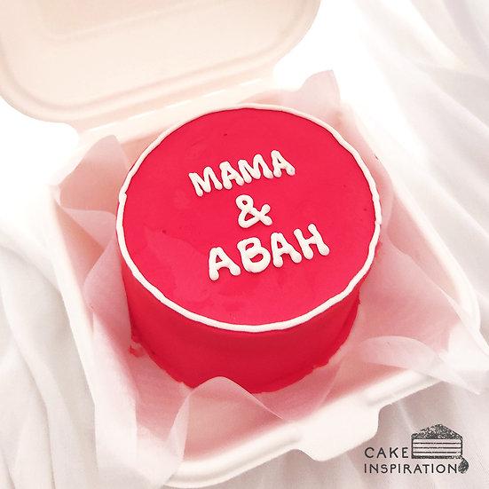 Simple Red Round Bento Cake (R13)