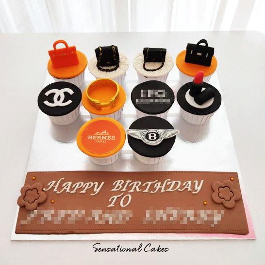 Shopping Luxury Brands Customized Cupcake