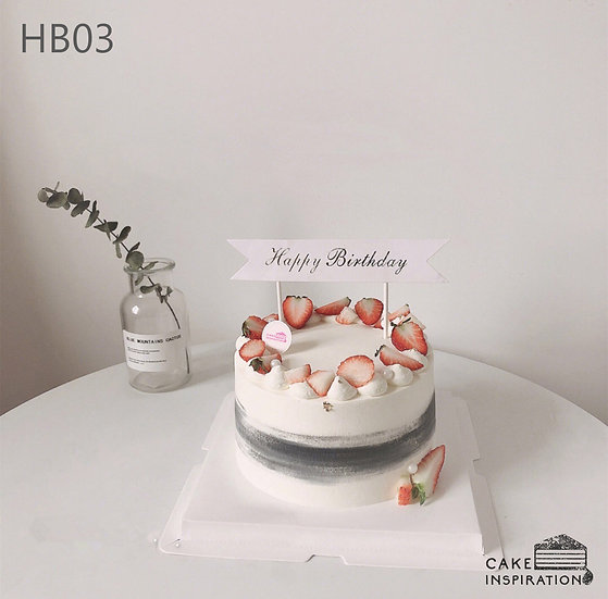 (HB03) Strawberry Heaven Cake - 6inch
