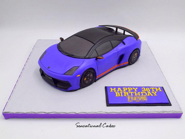 Sports Car Man Theme 3D Figurine Customized Cake