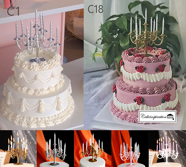 (C1 & C18) Classic Victorian Style Cake - 8inch + 5inch