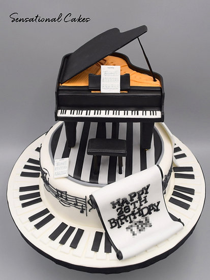 Musical Piano Man Theme 3D Figurine Customized Cake