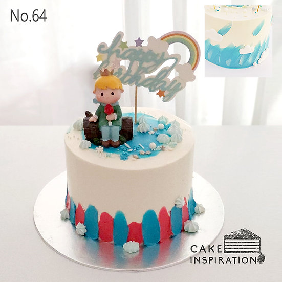 Little Prince Birthday Topper Cake ( no.64 ) - 6inch