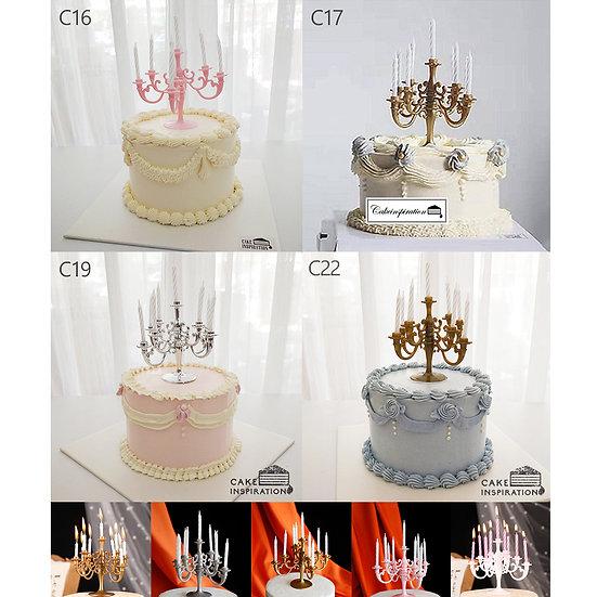(C16,C17,C19 & C22) Classic Victorian Style Cake - 6inch