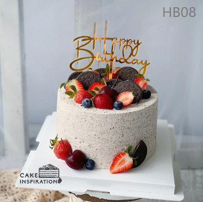 (HB08) Strawberries Blueberries Oreo Ecstasy - 6inch