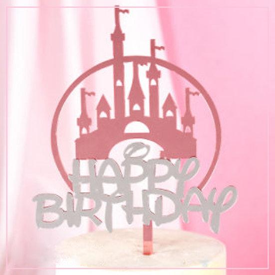 Happy Birthday - Acrylic Tag -Princess Castle
