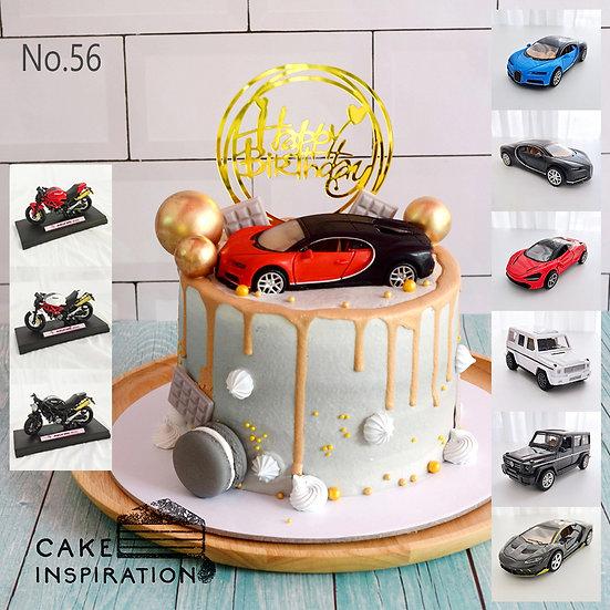 Gold Drip Luxury Car/Motorbike Topper Cake ( no.56 ) - 6inch