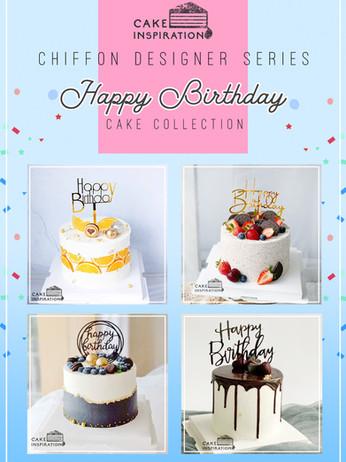 Happy Birthday Tag Design Cakes