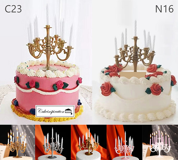 (C23 & N16) Rose Victorian Style Cake - 6inch