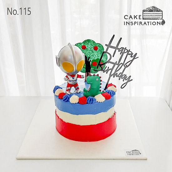 Masked Hero Topper Cake ( no.115) - 6inch