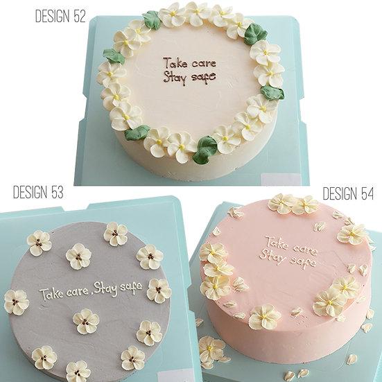 Plain Simple Style Cake (Design 52, 53 & 54) - 8inch