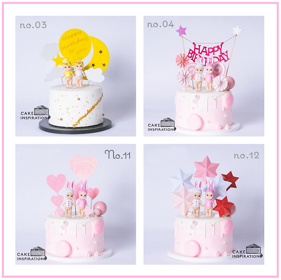 Twin Baby Topper Cake ( no.03, 04, 08, 11 & 12 ) - 6inch