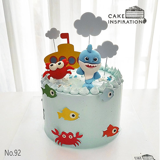 Baby Shark Under The Sea Topper Cake ( no.92) - 6inch