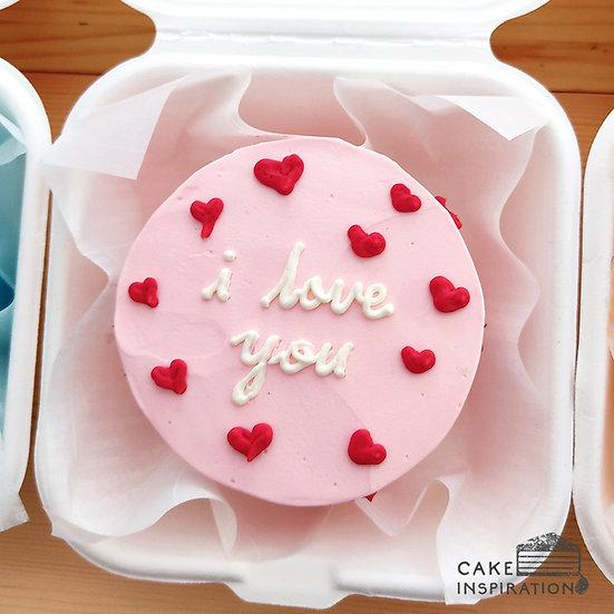 Sweet Heart Round Bento Cake (R08)