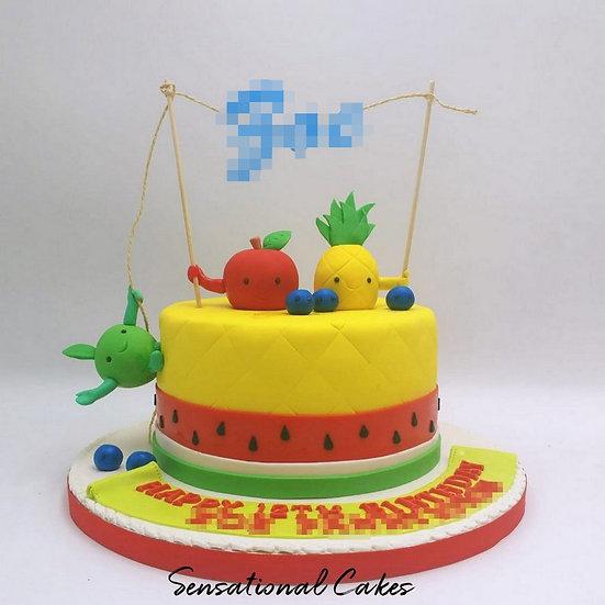 Tutti Frutti Children Theme 3D Figurine Customized Cake