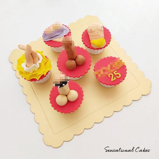 Naughty Night Customized Cupcake