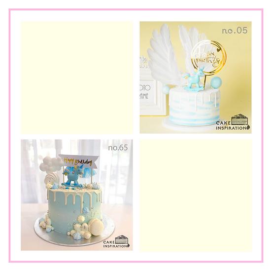 Single Unicorn Topper Cake ( no.05, 65 & 87 ) - 6inch